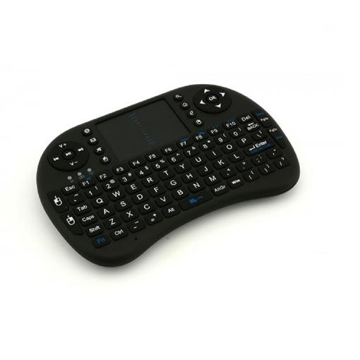 Picture of Ασύρματο πληκτρολόγιο OEM Rii i8 2.4GHz RF Mini Wireless Keyboard with Touch Pad Mouse Black