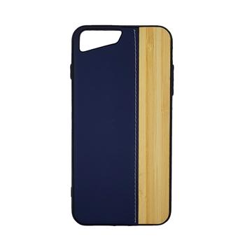 Θήκη πλάτης Wood Leather για iPhone 7 plus/8 plus (5.5)  - Χρώμα: Μπλε