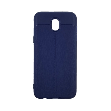 TPU Litchi Case with Leather pattern for Samsung Galaxy J530 (J5 2017) - Color : Blue