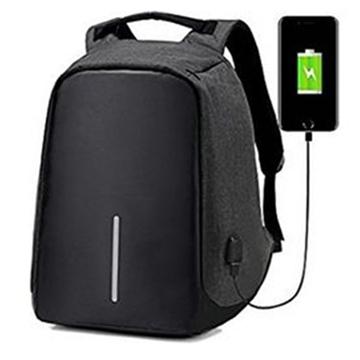 Αντικλεπτικό Σακίδιο Πλάτης με Θύρα USB - Χρώμα: Γκρι