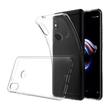 Θήκη Πλάτης Σιλικόνης για Xiaomi Redmi Note 5 Pro - Χρώμα: Διάφανο