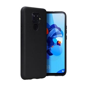 Θήκη Πλάτης Σιλικόνης Matte για Huawei Mate 30 Lite - Χρώμα: Μαύρο