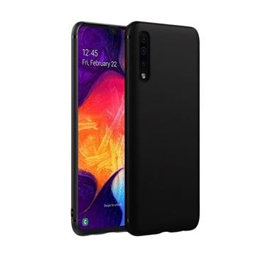 Θήκη Πλάτης Σιλικόνης Matte για Samsung A205F Galaxy A20/A305F Galaxy A30 - Χρώμα: Μαύρο
