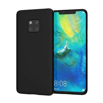 Θήκη Πλάτης Σιλικόνης Matte για Huawei Mate 20 Pro - Χρώμα: Μαύρο