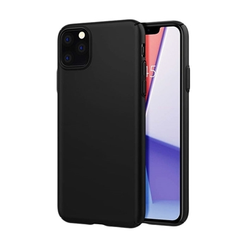 Θήκη Πλάτης Σιλικόνης Matte για Apple iPhone 11 Pro Max - Χρώμα: Μαύρο