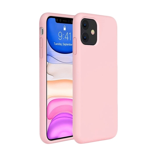 Θήκη Πλάτης Σιλικόνης για Apple iPhone 11 - Χρώμα: Χρυσό Ροζ