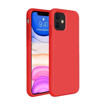 Θήκη Πλάτης Σιλικόνης για Apple iPhone 11 - Χρώμα: Κόκκινο