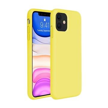 Θήκη Πλάτης Σιλικόνης για Apple iPhone 11 - Χρώμα: Κίτρινο