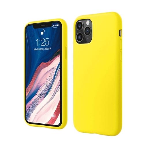 Θήκη Πλάτης Σιλικόνης για Apple iPhone 11 Pro - Χρώμα: Κίτρινο