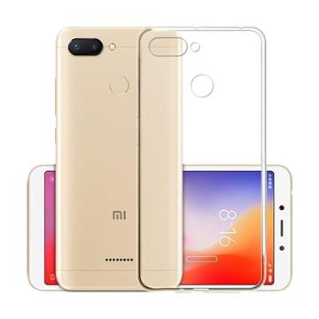Θήκη Πλάτης Σιλικόνης για Xiaomi Redmi 6 - Χρώμα: Διάφανο