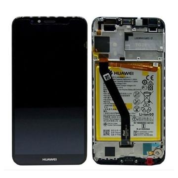 Picture of Γνήσια Οθόνη LCD με Μηχανισμό Αφής και Πλαίσιο και Μπαταρία  για Huawei Y6 2018 - Χρώμα:Μαύρο
