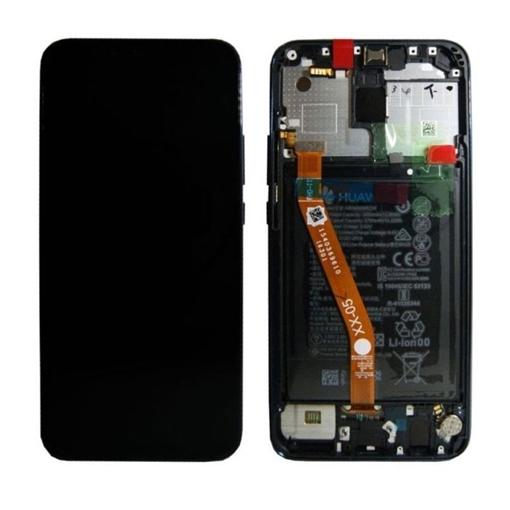Γνήσια Οθόνη LCD με Μηχανισμό Αφής και Πλαίσιο και Μπαταρία  για Huawei Mate 20 Lite (Service Pack) 02352GTW - Χρώμα: Μαύρο