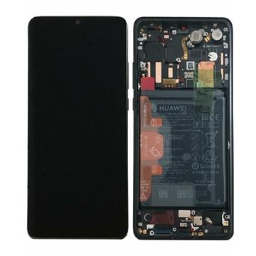 Picture of Γνήσια Οθόνη LCD με Μηχανισμό Αφής και Πλαίσιο με Μπαταρία για Huawei P30 Pro (Service Pack) 02352PBT - Χρώμα: Aurora Black