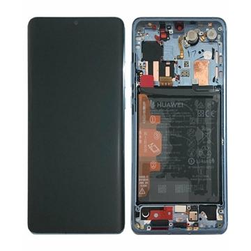 Εικόνα της Γνήσια Οθόνη LCD με Μηχανισμό Αφής και Πλαίσιο με Μπαταρία για Huawei P30 Pro (Service Pack) 02352PGH - Χρώμα: Breathing Crystal