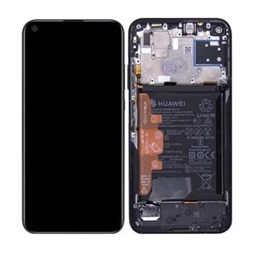 Picture of Γνήσια Οθόνη LCD με Μηχανισμό Αφής και Πλαίσιο με Μπαταρία για Huawei P40 Lite 2020 (Service Pack) 02353KFU- Χρώμα: Midnight Black