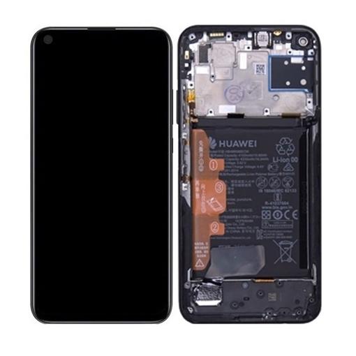 Γνήσια Οθόνη LCD με Μηχανισμό Αφής και Πλαίσιο με Μπαταρία για Huawei P40 Lite 2020 (Service Pack) 02353KFU- Χρώμα: Midnight Black